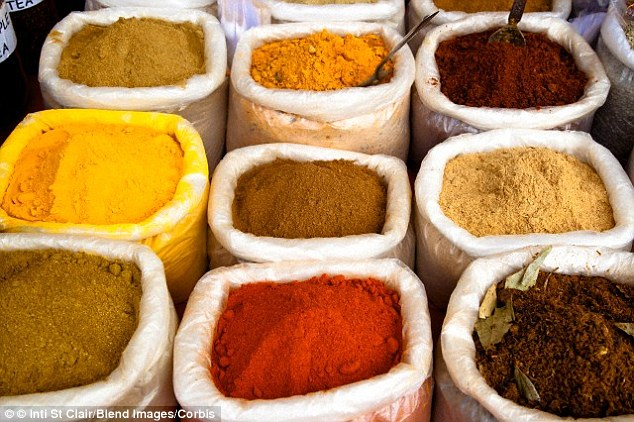 Eating gut-friendly spices like tumeric, ginger, fennel and black pepper can soothe stomach problems